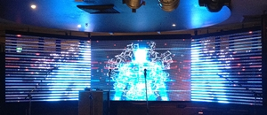 Daveys Hotel Concert graphics LED screen
