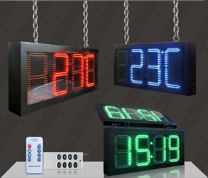 LED digital clock 3 colours